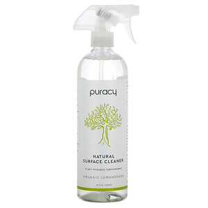 Puracy, Natural Surface Cleaner, Organic Lemongrass, 25 fl oz (739 ml)