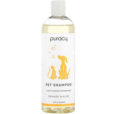 Puracy Natural Pet Shampoo, Orange & Aloe, 16 fl oz (473 ml)