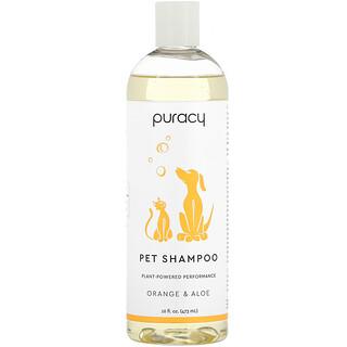 Puracy, 天然宠物洗发水,橙子和芦荟,16 盎司(473 毫升)