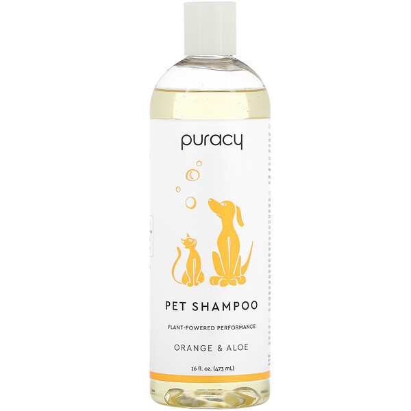Pet Shampoo, Orange & Aloe, 16 fl oz (473 ml)