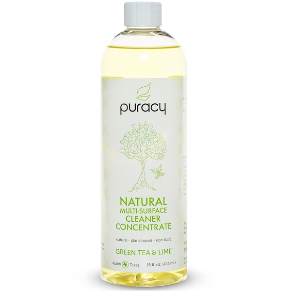 Puracy, Natural Multi-Surface Cleaner Concentrate, Green Tea & Lime, 16 fl oz (473 ml) (Discontinued Item)