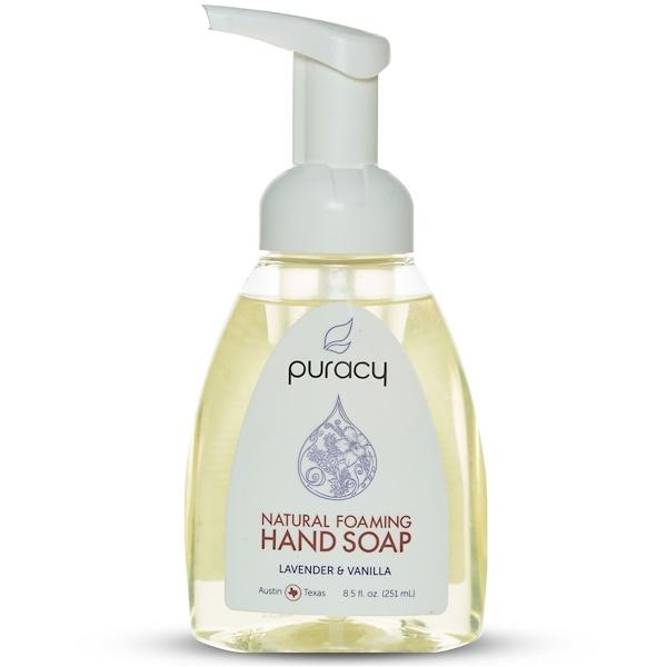 Puracy, Jabón para manos en espuma natural de lavanda y vainilla de 251 ml (Discontinued Item)