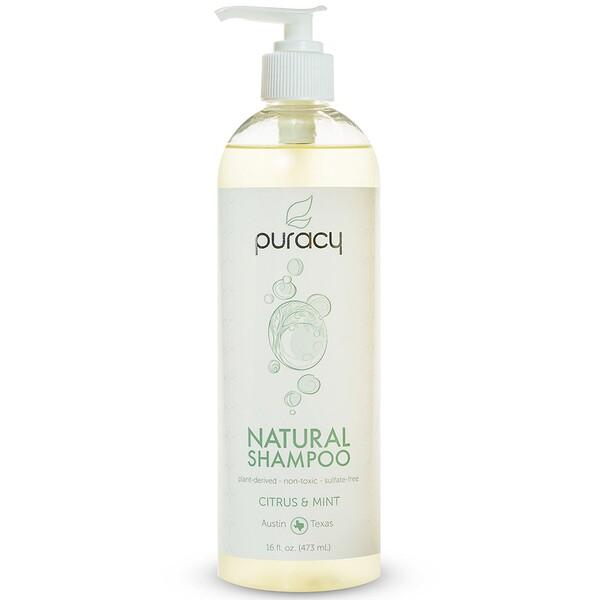 Puracy, 天然洗髮水,柑橘和薄荷味,16液體盎司(473毫升)