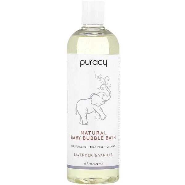 Natural Baby Bubble Bath, Lavender & Vanilla, 16 fl oz (473 ml)