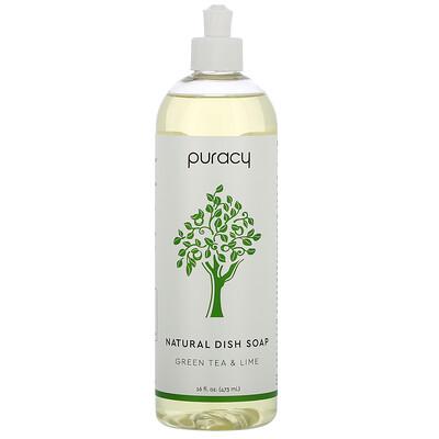 Купить Puracy Органическое средство для мытья посуды, зеленый чай и лайм, 16 жидких унций (473 мл)