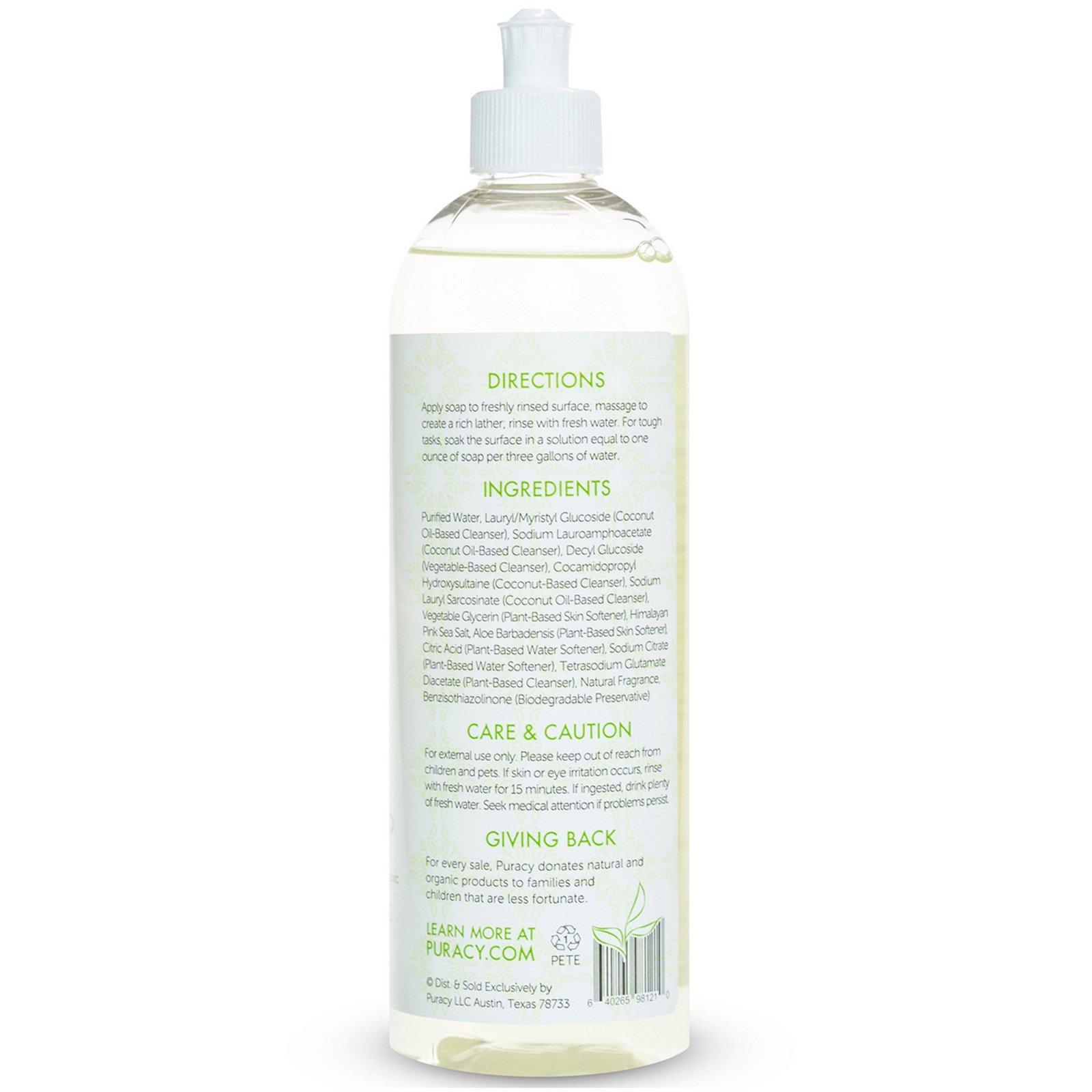 puracy liquide vaisselle naturel th vert et citron vert 16 fl oz 473 ml. Black Bedroom Furniture Sets. Home Design Ideas