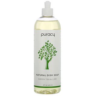 Puracy, Органическое средство для мытья посуды, зеленый чай и лайм, 16 жидких унций (473 мл)