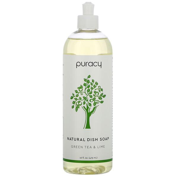 Natural Dish Soap, Green Tea & Lime, 16 fl oz (473 ml)