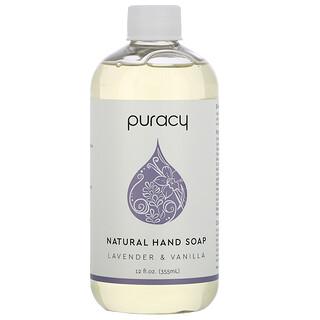 Puracy, 天然洗手液,薰衣花草香草味,12 液量盎司(355 毫升)
