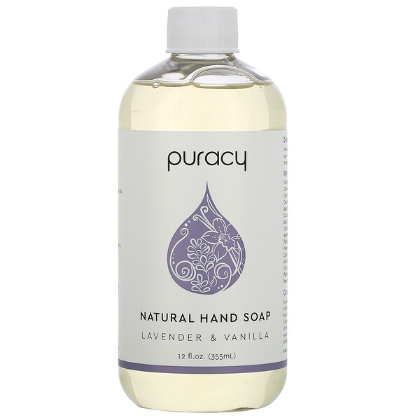 Natural Hand Soap, Lavender & Vanilla, 12 fl oz (355 ml)