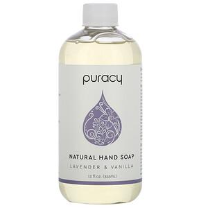 Пураси, Natural Hand Soap, Lavender & Vanilla, 12 fl oz (355 ml) отзывы покупателей
