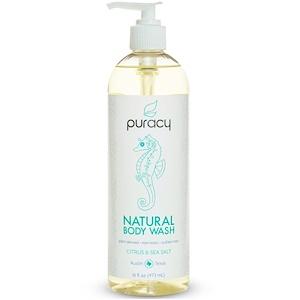 Пураси, Natural Body Wash, Citrus & Sea Salt, 16 fl oz (473 ml) отзывы покупателей