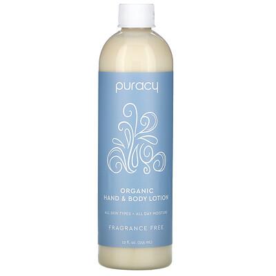 Купить Puracy Organic Hand & Body Lotion, Fragrance Free, 12 fl oz (355 ml)