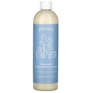 Puracy, Organic Hand & Body Lotion, Fragrance-Free, 12 fl oz (355 ml)