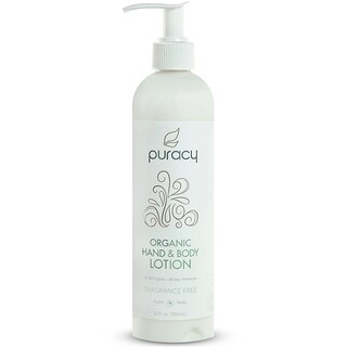 Puracy, Organic Hand & Body Lotion, Fragrance-Free, 12 fl oz (355 ml)