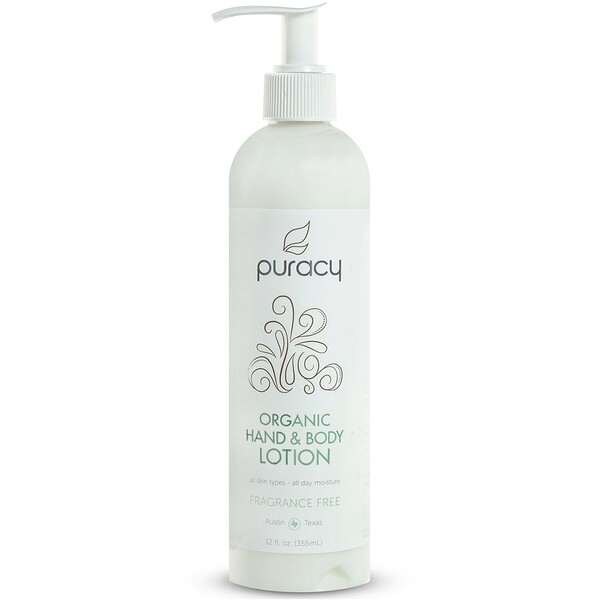 Puracy, Organic Hand & Body Lotion, Fragrance Free, 12 fl oz (355 ml) (Discontinued Item)