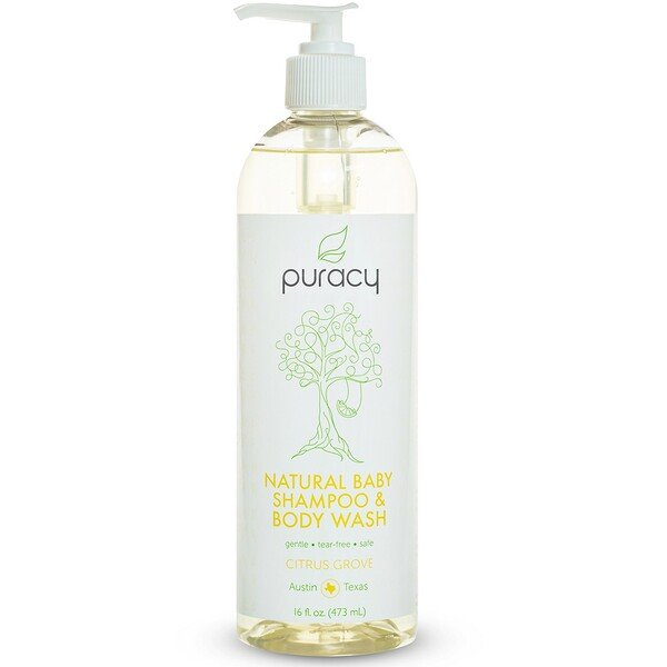 Puracy, Shampoo e Sabonete Corporal Natural, para Bebês, Bosque Cítrico, 16 oz fl (473 ml) (Discontinued Item)
