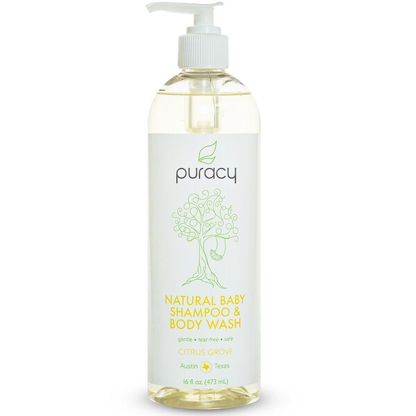 Puracy, Natural Baby Shampoo & Body Wash, Citrus Grove, 16 fl oz (473 ml) (Discontinued Item)