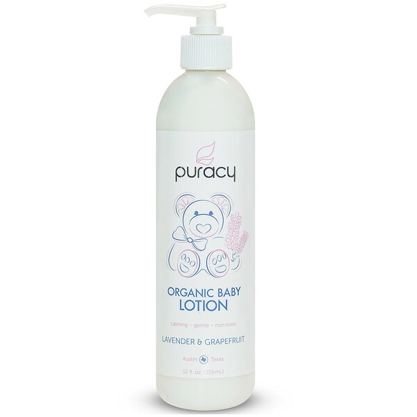 Puracy, Organic Baby Lotion, Lavender & Grapefruit, 12 fl oz (355 ml) (Discontinued Item)