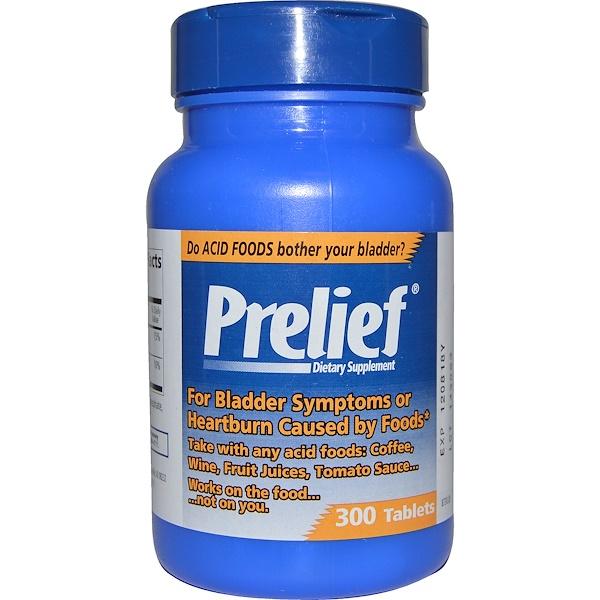Prelief, Bladder Symptoms and Heartburn Formula, 300 Tablets (Discontinued Item)