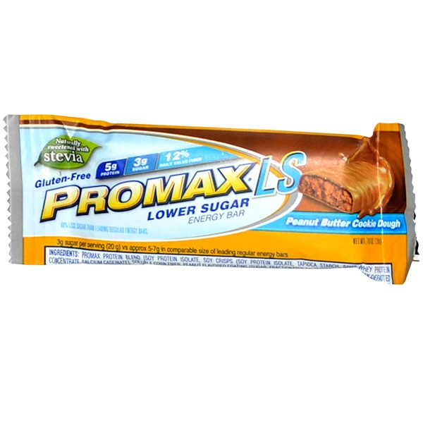 Promax Nutrition, LS, Lower Sugar Energy Bar, Peanut Butter Cookie Dough, .70 oz (20 g) (Discontinued Item)