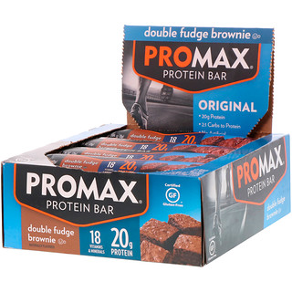 Promax Nutrition, Protein Bar, Original, Double Fudge Brownie, 12 Bars, 2.64 oz (75 g) Each