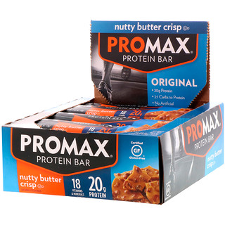 Promax Nutrition, Protein Bar, Original, Nutty Butter Crisp, 12 Bars, 2.64 (75 g) Each