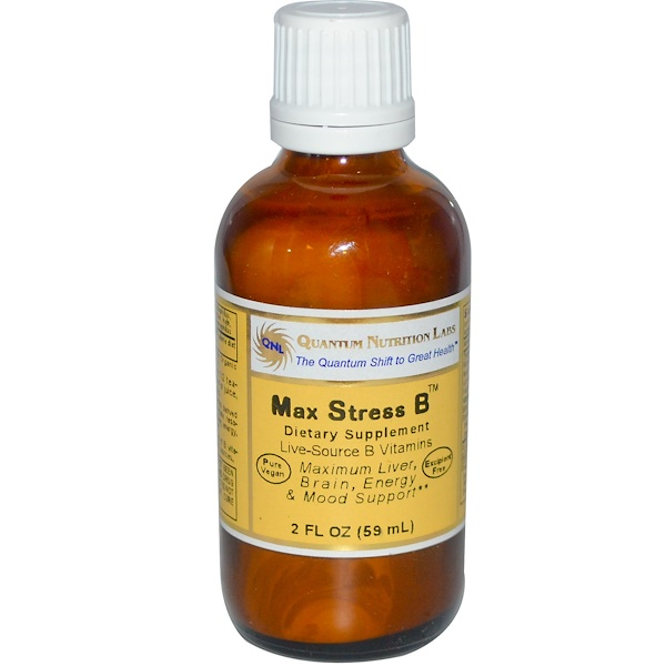 Quantum Nutrition Labs, Max Stress B, 2 fl oz (59 ml) (Discontinued Item)