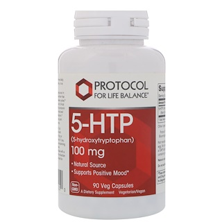 Protocol for Life Balance, 5-HTP, 100 mg, 90 Vcaps