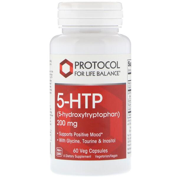 5-HTP، 200 ملغ، 60 كبسولة نباتية