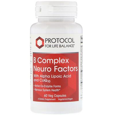 Protocol for Life Balance B Complex Neuro Factors, 60 Veg Capsules