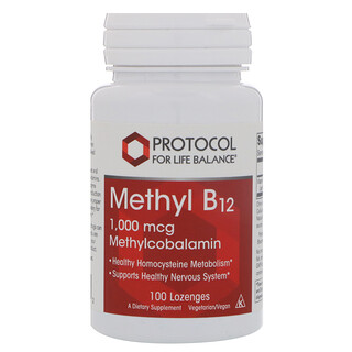 Protocol for Life Balance, Metil B12, 1000 mcg, 100 pastillas