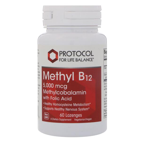 Protocol for Life Balance, 甲基維生素B12,5000微克,60含片