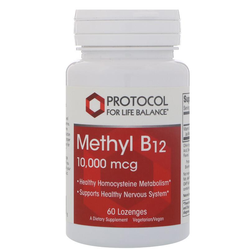 Protocol for Life Balance, Methyl B-12, 10,000 mcg, 60 Lozenges
