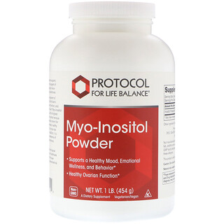 Protocol for Life Balance, Myo-Inositol Powder, 1 lb (454 g)