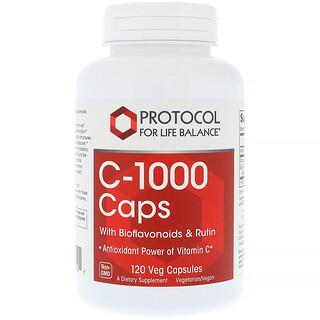 Protocol for Life Balance, Капсулы C-1000 с биофлавоноидами и рутином, 120 вегетарианских капсул