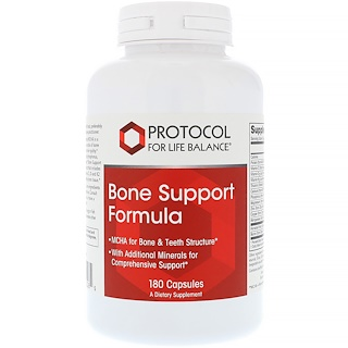 Protocol for Life Balance, Bone Support Formula, 180 Capsules