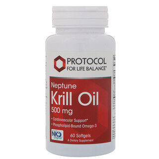 Protocol for Life Balance, Neptune Krill Oil, 500 mg, 60 Softgels