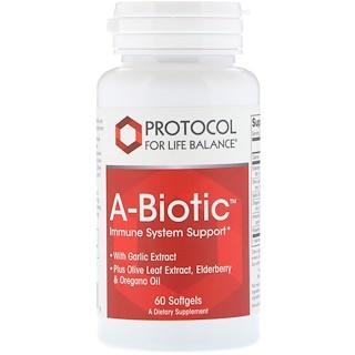 Protocol for Life Balance, A-Biotic, Immunsystemunterstützung, 60 Softgelkapseln