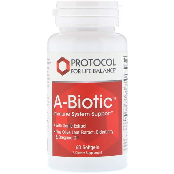 Protocol for Life Balance, A-Biotic, Immune System Support, 60 Softgels (Discontinued Item)