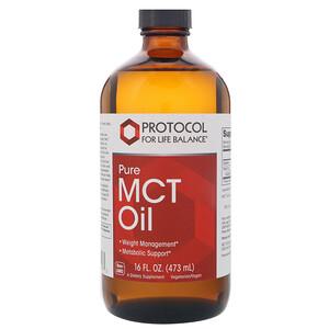 Протокол Фор Лифе Балансе, Pure MCT Oil, 16 fl oz (473 ml) отзывы
