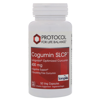 Купить Protocol for Life Balance Curcumin SLCP, 400 mg, 50 Veg Capsules