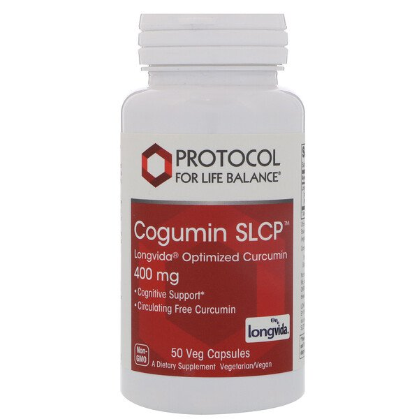 Protocol for Life Balance, Curcumin SLCP, Longvida Optimized Curcumin, 400 mg, 50 Veg Capsules