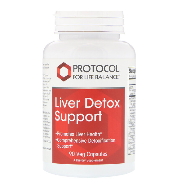 Protocol for Life Balance, Liver Detox Support, 90 כמוסות צמחיות