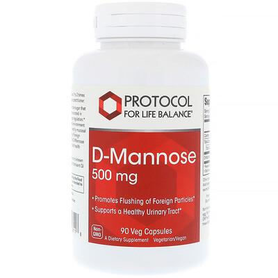 Купить Protocol for Life Balance D-Манноза, 500 мг, 90 вегетарианских капсул