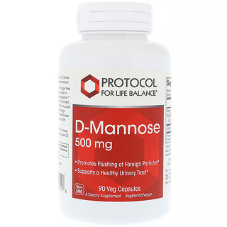 Protocol for Life Balance, D-Mannose, 500 mg , 90 Veg Capsules
