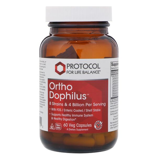 Protocol for Life Balance, Ortho Dophilus, 60 Veg Capsules