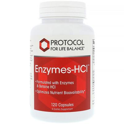 Купить Protocol for Life Balance Энзимы-HCI, 120 капсул