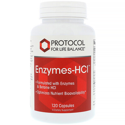 Protocol for Life Balance Энзимы-HCI, 120 капсул