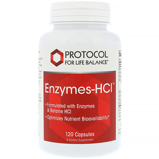 Protocol for Life Balance, Enzymes-HCI, 120 Capsules